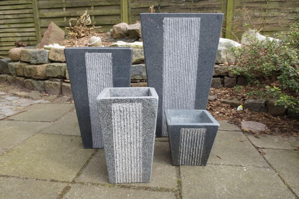 granit krukker til haven