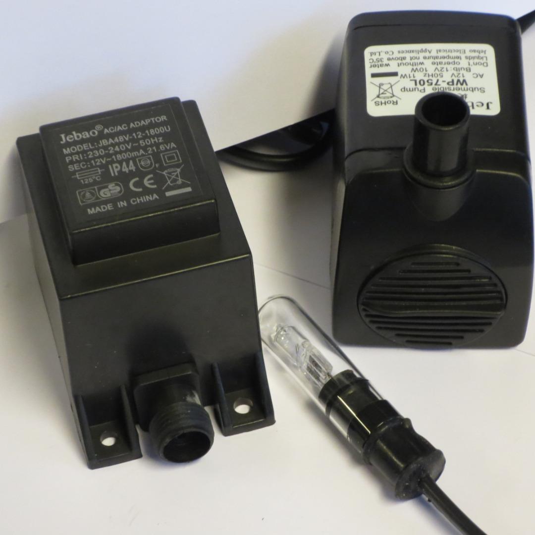 pumpe med lys 650 l 12 volt. Black Bedroom Furniture Sets. Home Design Ideas